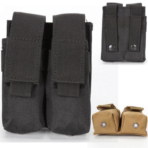9mm Tactical 1000D Molle Dual Double Pistol Mag Magazine Pouch Holster Belt Bag