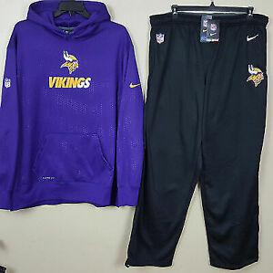 low priced 5e95e a7fd1 Nike Minnesota Vikings Therma-fit Suit Hoodie Pants Purple Black (size 4xl  3xl)