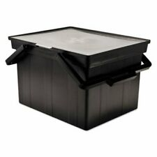 Advantus Companion Portable File Storage Box Legalletter Black Avttlf2b