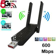 Hot USB 2.0 AC Dual Band Wifi USB Adapter 600Mbps with Double Antennas 5/2.4Ghz