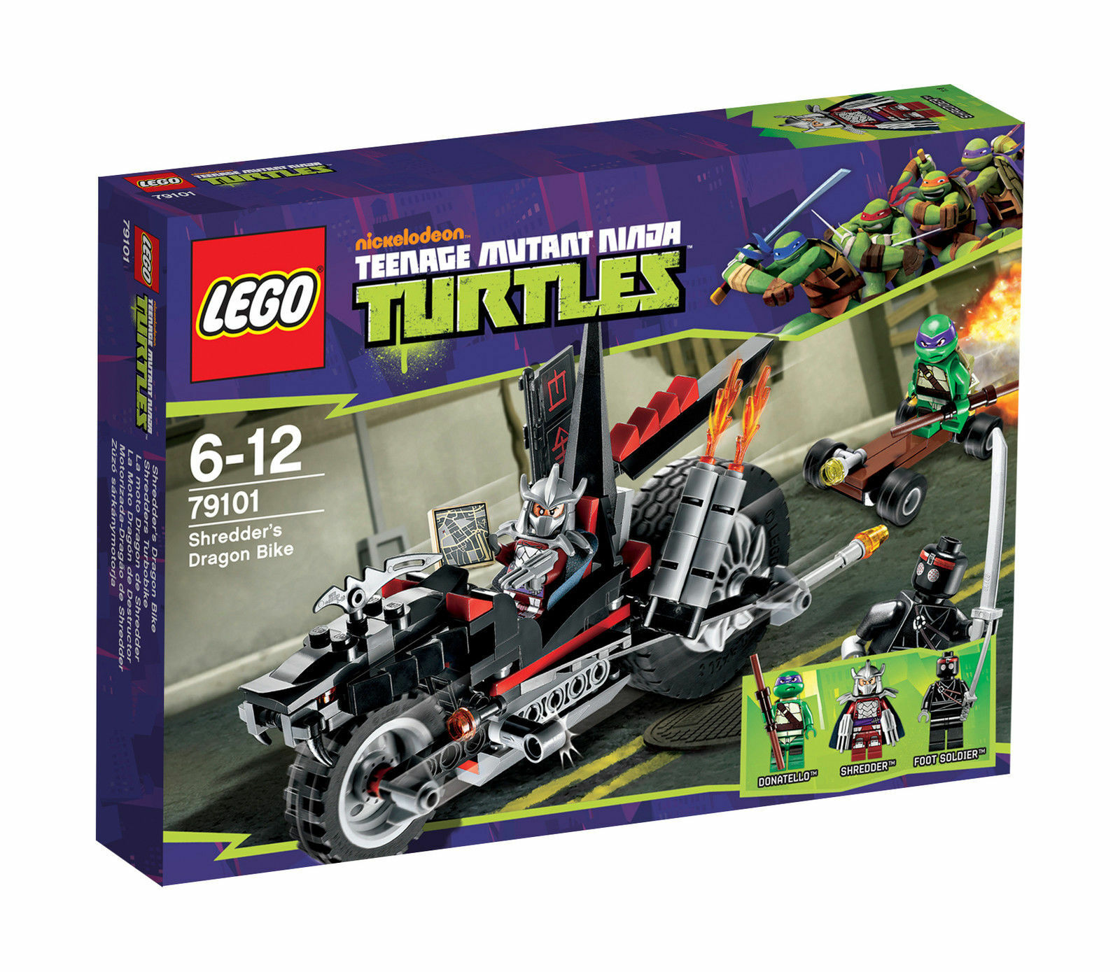 NEUOVPLEGO 79101 Shrotders Dragon Turbo Bike Teenage Mutant Ninja Turtles