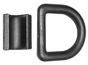 "Weld-on 1//2/"" D Rings Strap Tie Down Flatbed Truck Trailer Cargo Ring /& Clip 8"