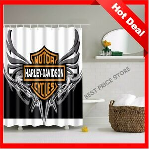 Delightful Image Is Loading Bathroom Vanities Curtain Harley Davidson  Logo Pattern Waterproof