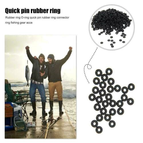 10//50Pc Carp Fishing Round Rig O Rings Quick Change Terminal Accessories R6W3