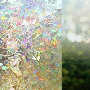 3D-Fenster-Folie-Regen-Bogen-Reflektierend-Dekorativ-Daten-Schutz-Statisch-O4W8