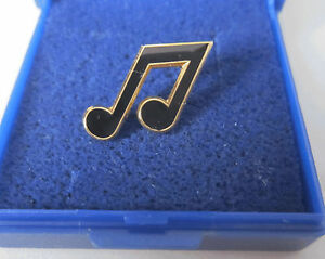 Quaver-Notes-Pin-Badge-Brooch-Lapel-Music-Note-Musician-GIFT-BOXED