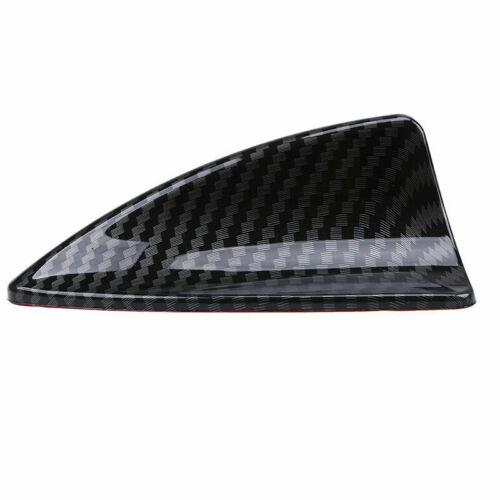 Car Vehicle Shark Fin Roof Mount Antenna Aerial Decor Decorate Part Carbon Black