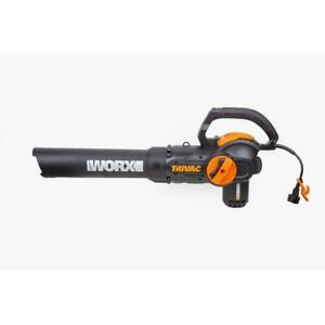 Worx Blower Mulcher Vacuum Handheld Trivac Shoulder Strap 70 MPH 620 CFM 12 Amp