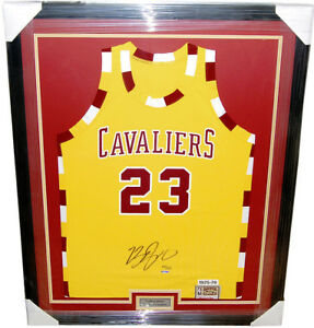 separation shoes 0cf84 22302 Details about VERY RARE Lebron James Cavs Throwback Jersey Signed & Custom  Framed! UDA LE /123