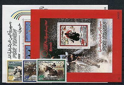 Gewidmet Jemen 312/14 Block 10/11 Postfrisch / Olympiade - Pferdesport ............1/1815