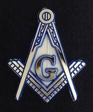 Masonic Car Auto Emblem - Molded Plastic Cut Out (Blue & Gold)