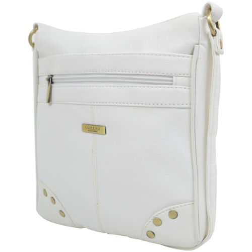 Womens Faux Leather Cross Body Bag Ladies Shoulder Bag with Stud Design