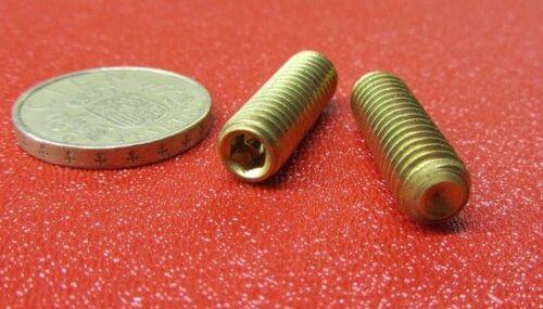 "20 Pieces Brass Set Screws Cup Point 5//16-18 x 1.0/"" Length"
