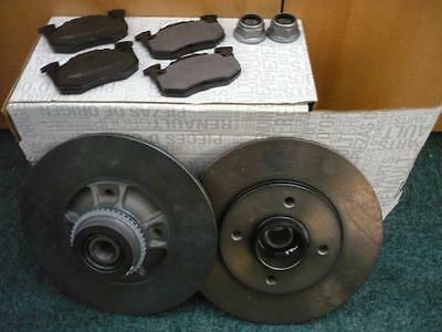 RENAULT CLIO SPORT 2.0 16v 172 & 182 GENUINE REAR BRAKE DISCS,PADS & HUB NUTS