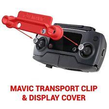 DJI MAVIC PRO - Screen Cover & Transport Clip Controller RED USA seller