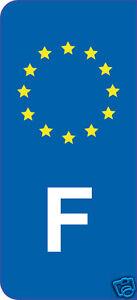 2x-Sticker-style-Immatriculation-auto-adhesif-10cm-lettre-F