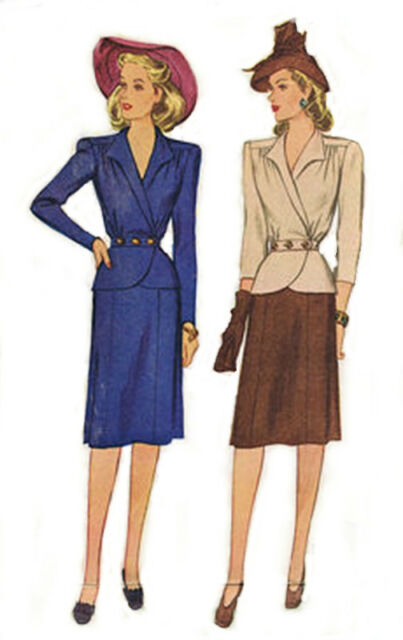 #33 40'S TWO PIECE SUIT PATTERN ALL SIZE  DOLLS