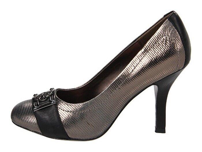 New Isola Ricci II Pumps Heels Silver/Black Cintoia Printed size   size 8 1ec1b9