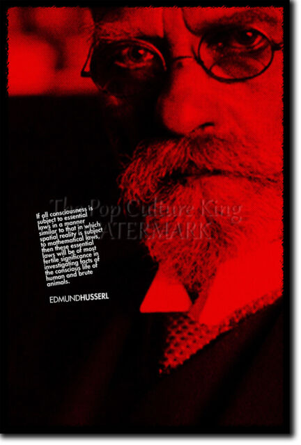 EDMUND HUSSERL ART PRINT PHOTO POSTER GIFT QUOTE PHILOSOPHY