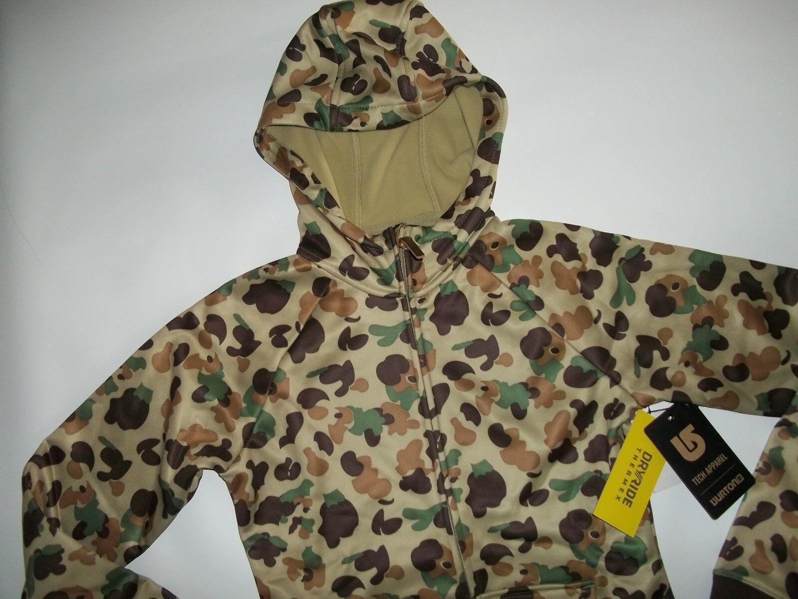 5915998f4aa0b Burton Hooded Duck Hunting Camo Full Zip Sweatshirt Jacket Womens Sz ...