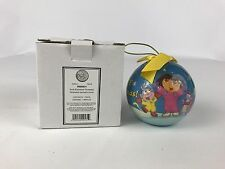 Dora the Explorer Merry Christmas Feliz Navidad Holiday Ball Ornament 2004 Avon