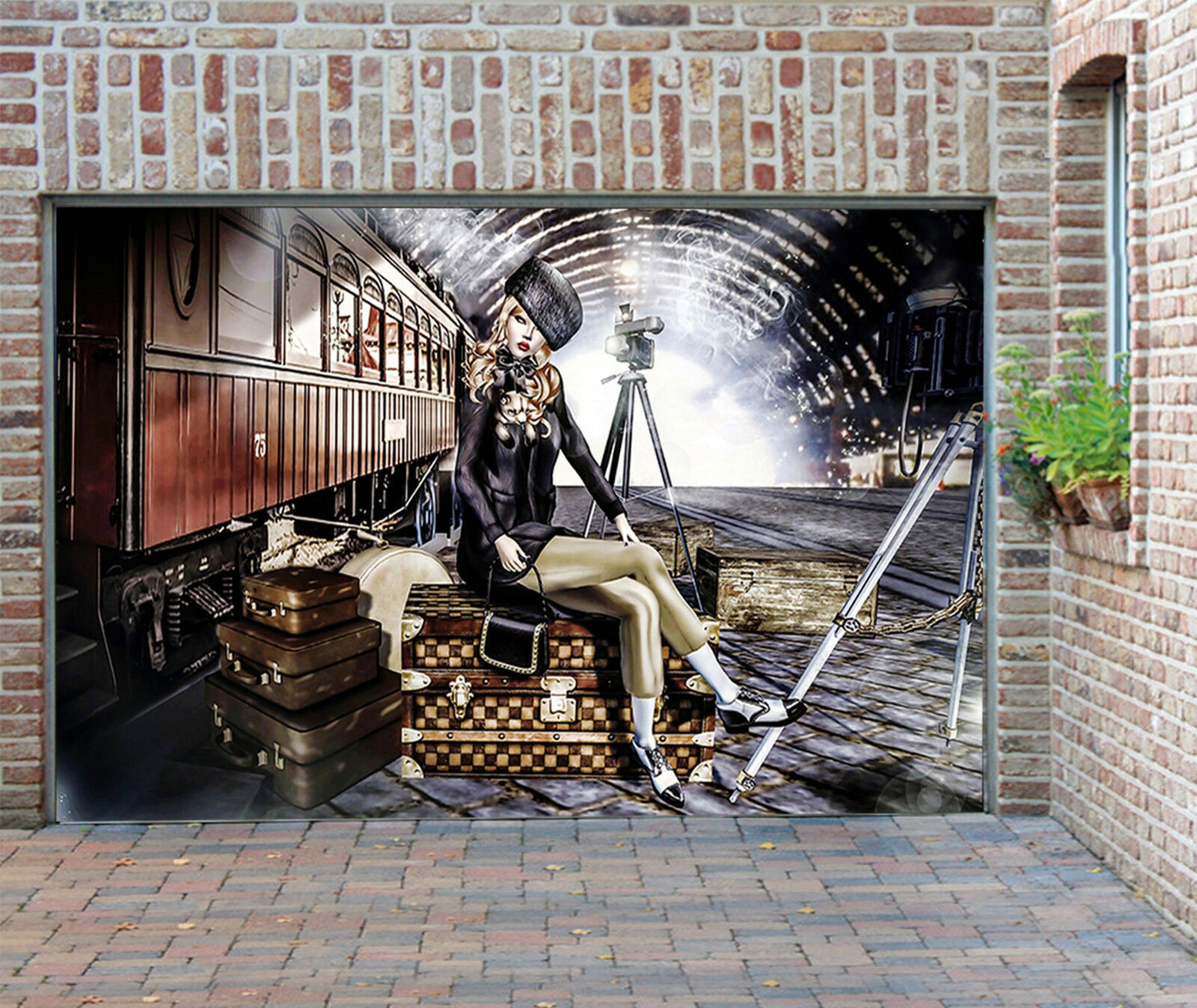 3D Bellezza 015 Garage Porta Stampe Parete Decorazione Murale AJ WALLPAPER IT