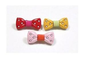 """4 colors 4 Fancy Bow Novelty Buttons Sewing Crafting Quilting  9//16/"""" .5/"""""""