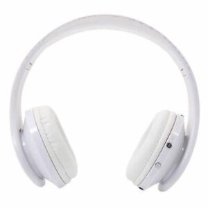Bluetooth-Wireless-Headset-Stereo-Headphone-Earphone-Handfree-With-Mic-White-NEW