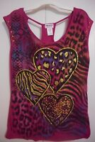 Women's Juniors Appropriate Behavior Casual Shirt Pink Summer Size S Or M