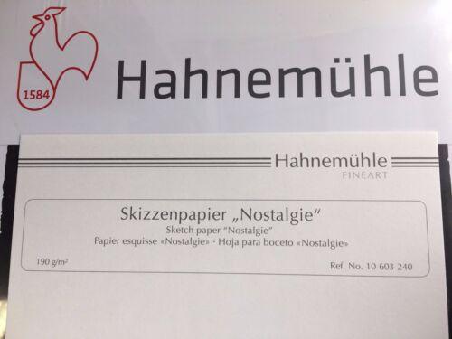 Skizzenblock Nostalgie 190g A1 Hahnemühle Skizzenpapier kopfgeleimt NEU /& OVP