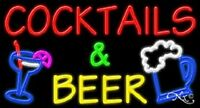 cocktails & Beer 37x20x3 W/logo Real Neon Sign W/custom Options 11678