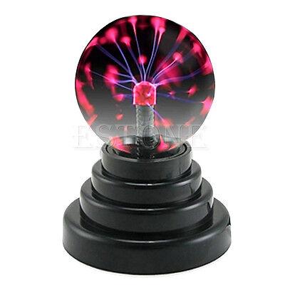 New Magic USB Glass Plasma Ball Sphere Lightning Lamp Light Party Black Base