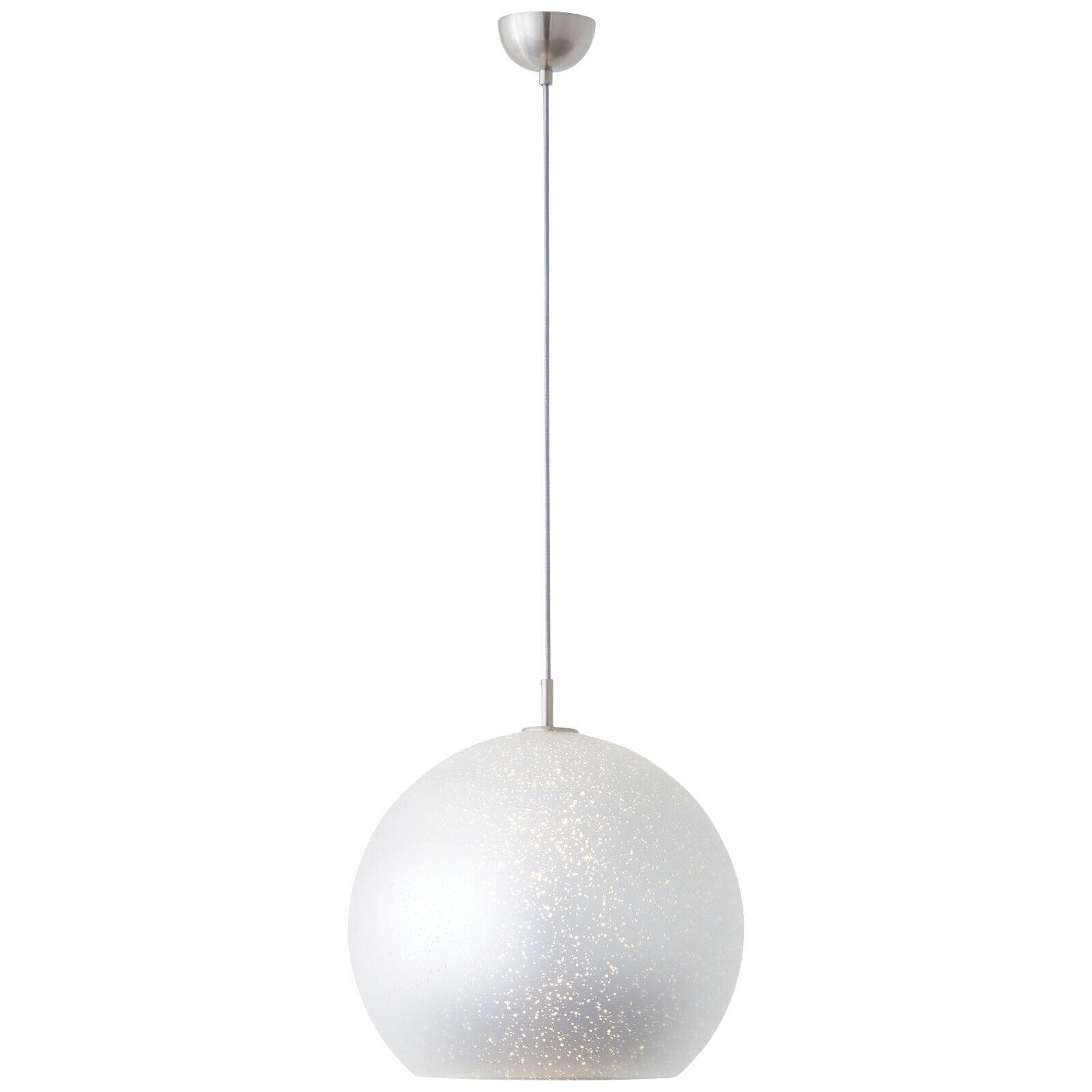 LED Design Hänge Lampen Wohn Schlaf Ess Raum Beleuchtung Pendel Leuchten silbern