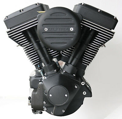 "Ultima ""Black Out"" Diamond Cut 127 c.i. El Bruto Motor for Evo Harley and Custom"