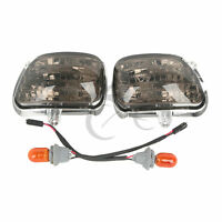 Smoked Front Turn Signal Lights Bulb For Honda Goldwing Gl1800 2001-2014 01 03