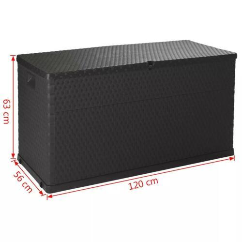 Auflagenbox 420L Anthrazit Kissenbox Gartenbox Gartentruhe Kiste Garten 120x56