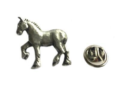 Fine English Pewter Gift Pouch Hunting Hound Beagle Lapel Pin Badge