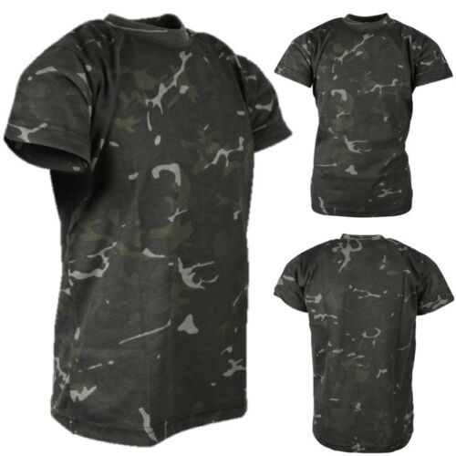 WORLD BOOK DAY BOYS ARMY COSTUME KIDS TROUSERS T-SHIRT HELMET VEST BLACK CAMO