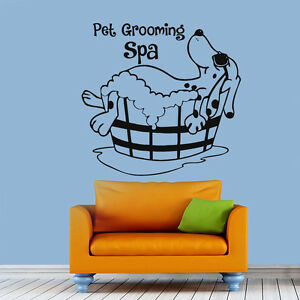 Image Is Loading Pet Grooming Wall Decal Dog Salon Vinyl