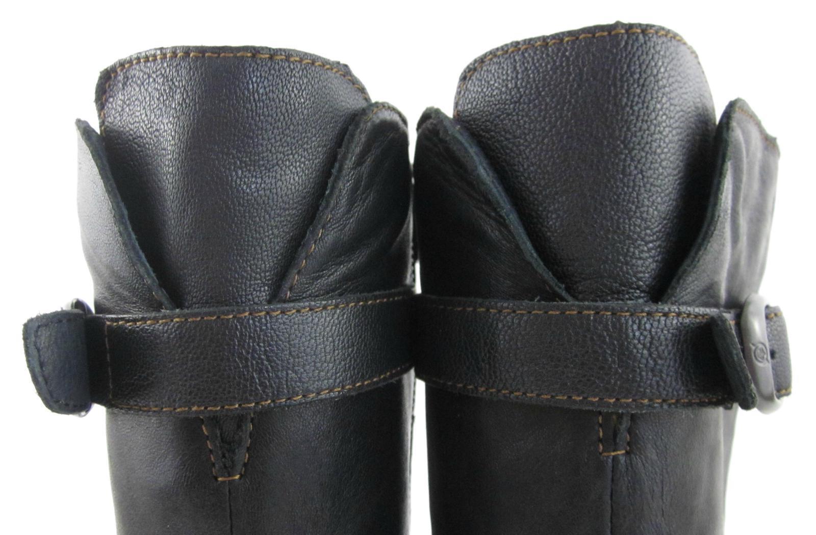 Born Riding Boots Side Zip Zip Zip Black Leather Equestrian Theme Soles US 6  Fantastic dad877