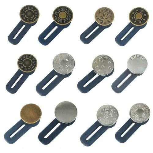 Jeans Retractable Button Adjustable Detachable Extended For Jeans Button T5D6