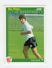 figurina card - CALCIATORI CARD SCORE 1993  - numero 466 PADOVA DEL PIERO ROOKIE