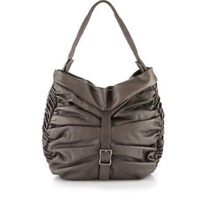 c6db86e0274 Image is loading Treesje-Ruched-Bliss-Black-Leather-Hobo
