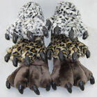 Leopard Print New Fashion Plush Indoor Winter Soft Warm Paw slippers Shoes lady
