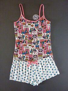 best service cf4a6 8c293 Details zu DC Comics Wonder Woman Damen Pyjama Schlafanzug Kurz Shorty S-L  Sterne Primark