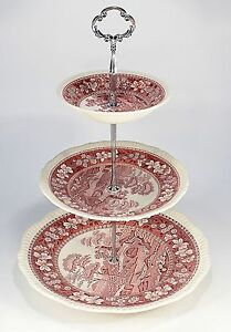 Spode-034-Pink-Tower-034-Etagere-3-stufig
