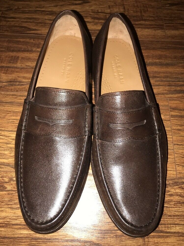 Cole Haan -New Grand OS Brown Penny Loafers Size 10M -New Haan  299 08ee21