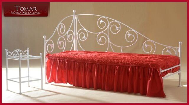 Wertvolles handgeschmiedetes Sofa, Chaiselongue Aurelia 90x200 inkl. Lattenrost