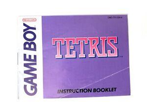 Tetris ORIGINAL NINTENDO GAMEBOY Instruction Manual Booklet Book Only! NO GAME!