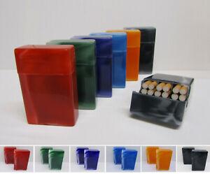 Farbauswahl:Rot marmoriert 1 x Kunststoff Zigarettenbox mit Steg